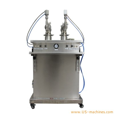 Vertical double nozzles filling machine standing filler equipment semi automatic pneumatic filling system for food liquid juicy water
